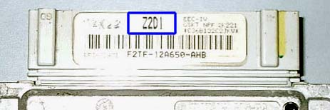 Z2D1 box code on label of ECM